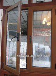 hot selling wooden frame aluminium open window