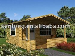 summer vacation prefabricated wooden house/villa