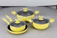 7pcs Aluminum Non-stick Cookware Set