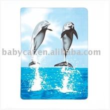 Cute dolphin patterns fleece blanket keeps you warmhi