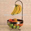 Final de la galjanoplastia del árbol de plátano del renacimiento/de la cesta de fruta w/Antique