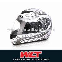 White ECE Full face helmet WLT-101 S
