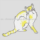Rhinestone Heat Transfers Cat Design