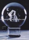 Love crystal gift crystal ball with base
