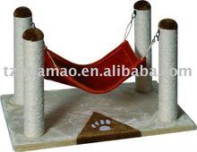 cat tree with hammock