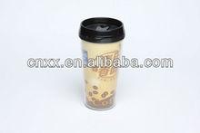 plastic travel mug with photo insert