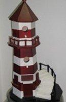 wooden light birdhouse