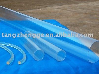 V cuo extrus o de pvc r gido transparente retangular e - Tubo plastico rigido ...
