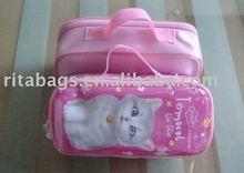cute printing zipper closed girls school pencil bag RD10339-10