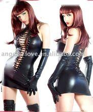 2015 Wholesale sexy leather dress,leather lingerie,pvc lingerie fpr lady
