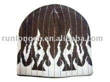 men' jacquad custom knit beanie