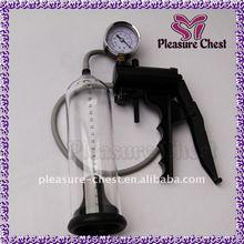 penis enlargment pump with pressure gage