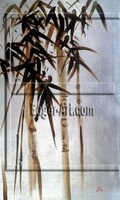 Hand painted Bamboo Oil Painting for Wholesale (Real painting)