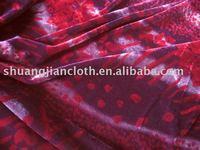 Embossing Printed Spandex Velvet Fabric