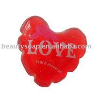 liquid heart shape hand soap bubble wash