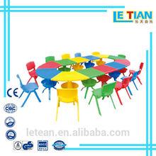 Vendita calda scuola scrivania e una sedia giocattolo tavolo e sedie per bambini in plastica giocattoli(in lt- 0153c)