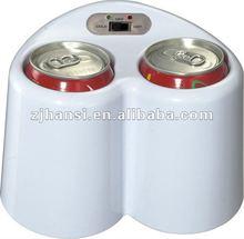 2L white mini USB fridge/ DC cooler and warmer/ car refrigerators