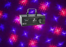 200mW red and purple twinkling laser display system