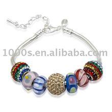 Beads 925 prata esterlina jóias pulseira com contas DIY pulseira