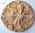 Wl-hy009 de confecção de malhas do crochet acrílico boina cáqui