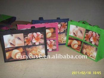 new design stylish non woven photo inserting shopping bag
