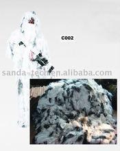 Juego del ghillie/traje de camuflaje/ropa de caza, la nieve camo( c002)