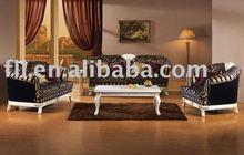 Luxurious European style Hotel wooden Lobby Sofa set for 5 star hotel lobby