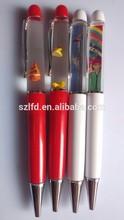 hot new products for 2015 plastic floater pen,liquid custom ballpen for promotion