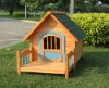 Wooden Dog Kennel With Dog Bed