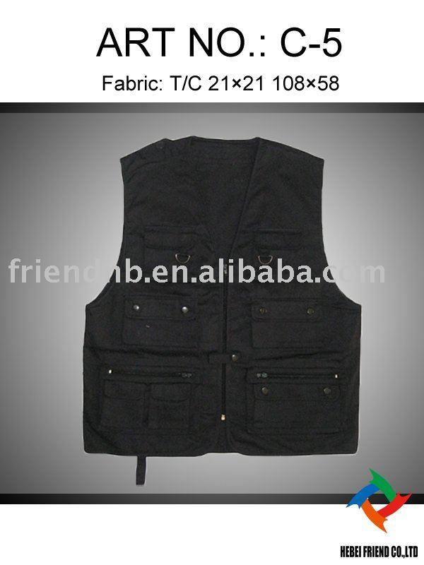 outdoor multi pockets fishing vest
