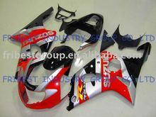 GSX fairing GSXR600 GSXR750 fairing 01-03 RED SILVER AND BLACK fairing