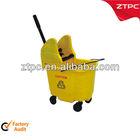 27L Plastic side-press wringer mop bucket