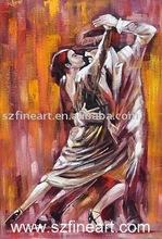 Modern Art Dancing oil Painting of International Standard dance couple