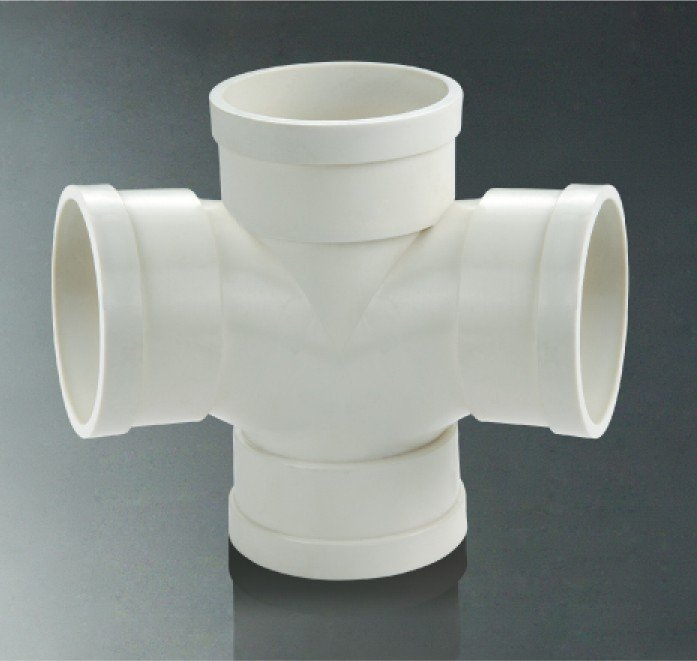 Ivory deg way pvc connector pipe fittings cross