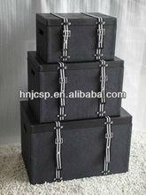faux leather rectangular storage trunk