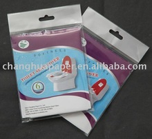 disposable and comfortable travel pack toilet seat cover