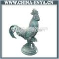 Jardim galo escultura, galo de metal, decorativa animal estátua