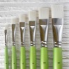 new products green handle Synthetic wholesale art brush