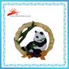 resin souvenir fridge magnet with panda and bamboo