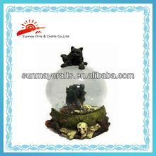 Halloween gift water globe with skull (SMW0129)
