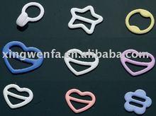 Irregular shape Nylon coated bra ring and slider