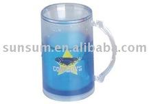 ps ice beer mug,plastic mug handles