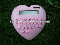 color button novely heart shape desk gift calculator