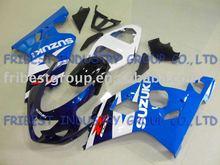GSX fairing GSXR600 GSXR750 fairing 0405 BLUE AND BLACK WHITE fairing