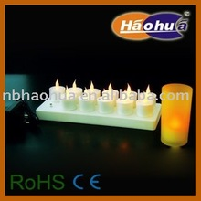 Rechargeable LED candle light-12 pack
