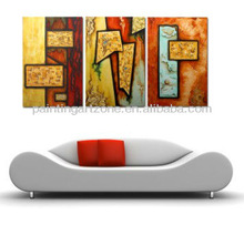 Abstract canvas oil painting