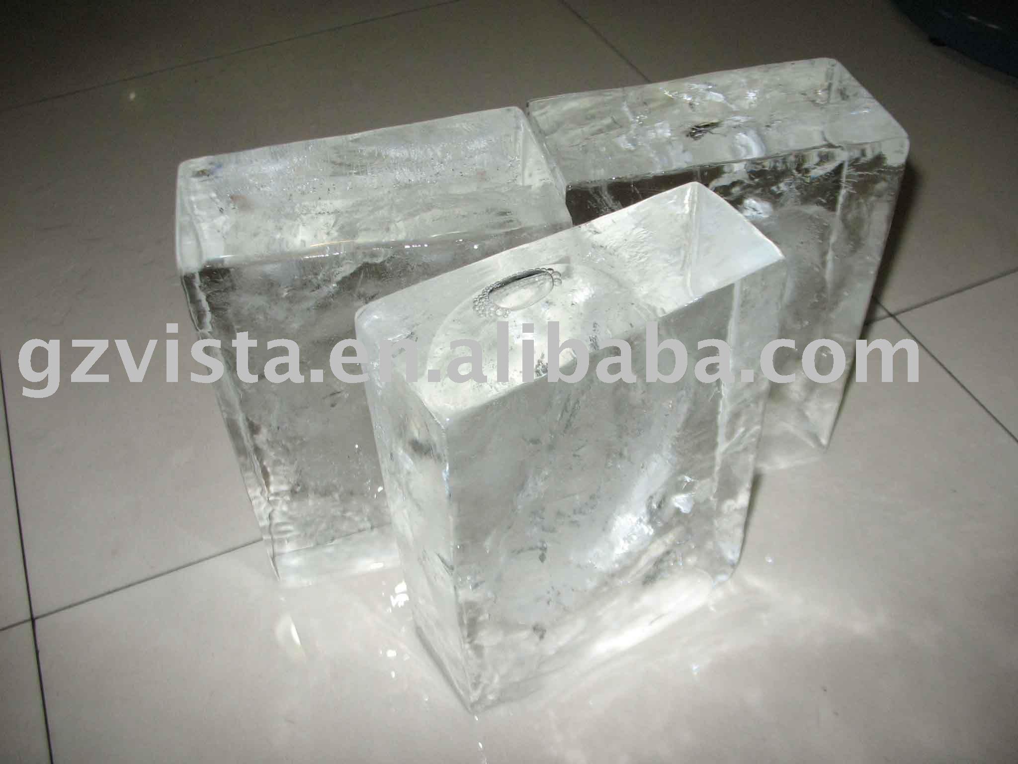 transparente de hielo fabricante de bloques Máquinas de hielo  #3E3C31
