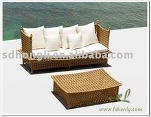 outdoor rattan sun bed