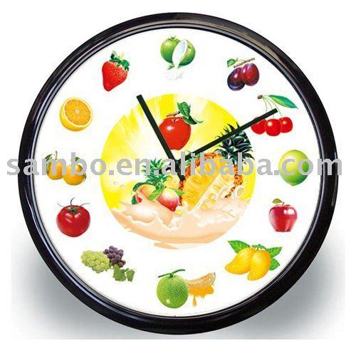 Fruta de la cocina reloj de pared relojes pared - Reloj de pared para cocina ...