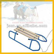 metal skiing sled